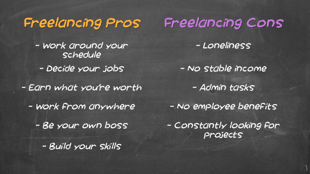Freelance Pros and Cons 1